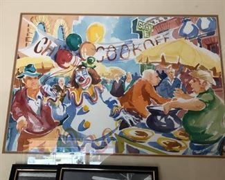 local. Roanoke artist Eric Fitzpatrick chili cook off