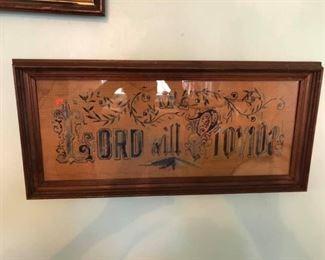 Lord Will Provide - Cross Stitch Sampler $10