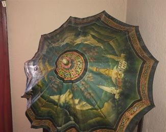 Hand Painted - Parasol From Nepal