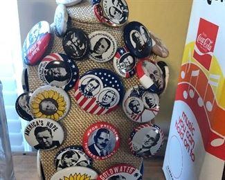 political button lot