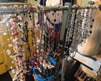 sterling necklaces (some with stones) $5 each