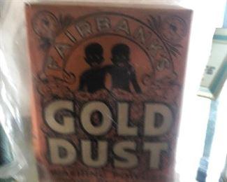 gold dust black Americana box