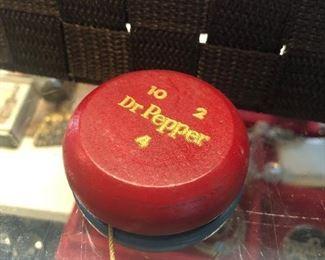 Dr Pepper 10-2-4 promo yo-yo wooden - $2