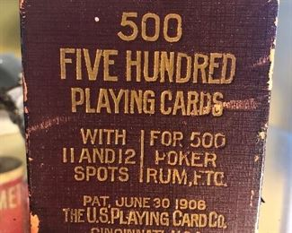 Vintage antique playing cards with tax stamp $4