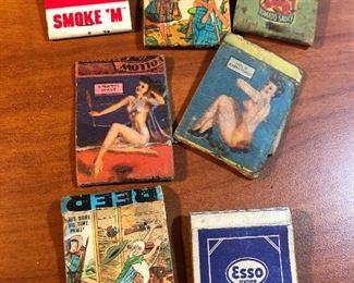 Pinup vintage matchbook