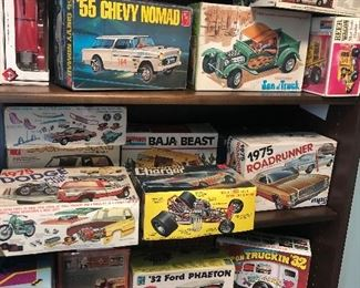 Open box model cars (parts and incomplete builds) - good stuff