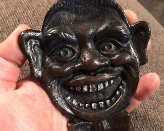 Antique cast iron black Americana ashtray? Novelty collectible - $10