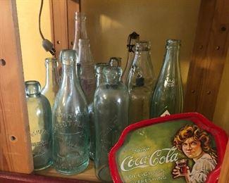 Vintage blob top bottles
