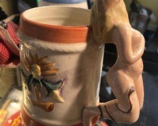1940s Risqué female figure Mug made in Japan 1940s