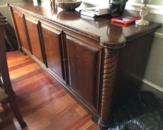 Buffet $300.00 AS IS...Some wear and tear.  Dimensions:  95 long x 26 wide x 36 high