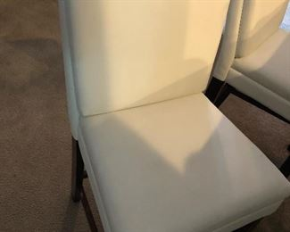 Four White barstools continued