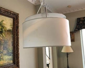Contemporary Floor lamp $150.00.  Dimensions: 80 inches