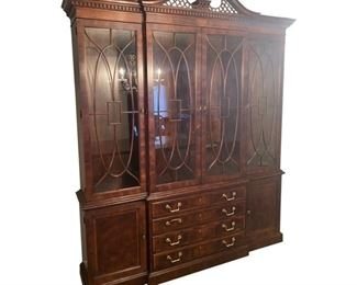 1990s Aston Court by Henredon China Cabinet/Breakfront $1,995 DIMENSIONS 76ʺW × 16ʺD × 92ʺH