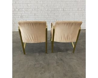 Baker Furniture Hollywood Regency Brass Arm Chairs- A Pair $1,995