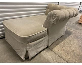 Grafton Furniture Tufted Chaise Lounger Price:$1,949  DIMENSIONS 63ʺW × 35ʺD × 28ʺH