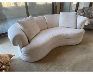Sherrill Furniture Custom Made White Upholstered Sofa- 2 Available $995 Each DIMENSIONS 86ʺW × 38ʺD × 29ʺH