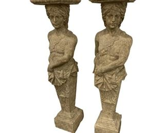 Maitland Smith Lady Pedestals - a Pair Price:$3,395  DIMENSIONS 13.25ʺW × 13.25ʺD × 61ʺH