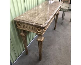 Traditional William Switzer Designer Marble Top Console Table Price:$1,745 DIMENSIONS 32ʺW × 19ʺD × 36ʺH