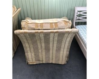 A Rudin Upholstered Lounge Chairs- a Pair Price:$2,495 DIMENSIONS 46ʺW × 37ʺD × 32ʺH