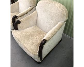 Grafton Furniture Upholstered Armchairs - a Pair Price:$1,995 /set DIMENSIONS 32ʺW × 36ʺD × 36ʺH 18 Inch Seat Height