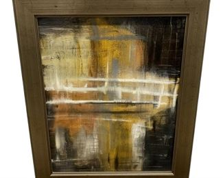 Mark Pulliam Abstract Oil on Board Painting in Frame $495 DIMENSIONS 20ʺW × 1ʺD × 24ʺH