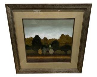 Holman Landscape Print Framed in Museum Glass $495 DIMENSIONS 46ʺW × 1ʺD × 46ʺH