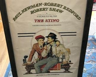 """The Sting"" movie poster signed by George Roy Hill $200 or best offer"