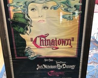 """Chinatown"" movie poster signed by Robert Evens $300 or best offer"