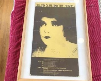 Lillian Gish move poster signed by Lillian Gish $250 or best offer
