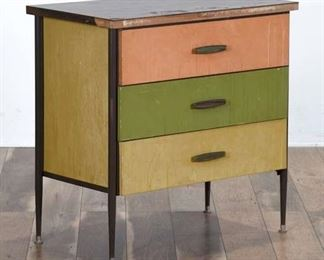 Mid Century Modern Tri-Color Chest Of Drawers