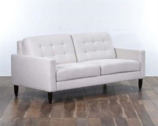 Mid Century Modern Style Tufted Back Loveseat