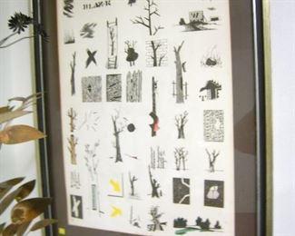 "Karl Fortess  signed print, 26"" W x 33 1/2"" T,  $195"