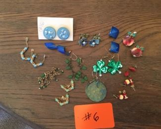 """Costume Jewelry Lot """"Apples, Blues & Reds"""""""