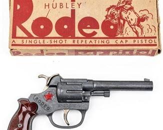 Vintage Hubley Rodeo Cap Gun in Original Box