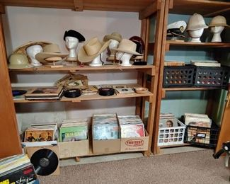 Wonderful Hat Collection along with 100's of Albums. RCA Red Seal, Stereo some Mono. Lot's of Classical.