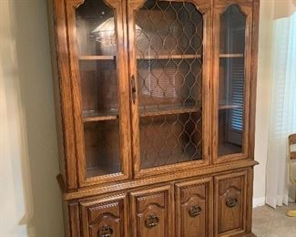Vintage china cabinet - 79HT X 51 W X14D $250