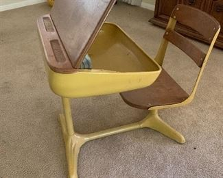$250 WOW! MID CENTURY MODERN SCHOOL DESK  ~  ( TWO AVAILABLE )