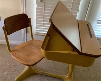 $250 - WOW! MID CENTURY MODERN SCHOOL DESK  ~ ( TWO AVAILABLE )