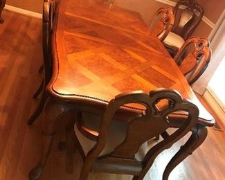 Banquet Dining Table / 2 leaves / 8 chairs $ 480.00