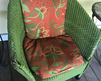 Wicker Chair with cushions - (some damage) $ 30.00