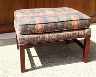 Now $35   Tapestry ottoman            28L x 22 1/2D x 20H                         sale price         $60!!!!!!!!