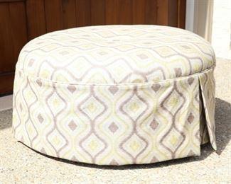 Now $40    Round ottoman          36W x 18H                                                   sale price     $75!!!!!