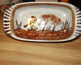 Casserole dish made in Mexico. 12 x 6.5 x 3 inches.  $12.00