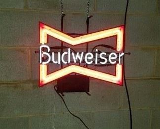 Bow tie Budweiser Neon sign, like new
