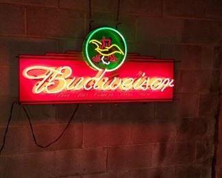 Neon Budweiser with A/B Logo