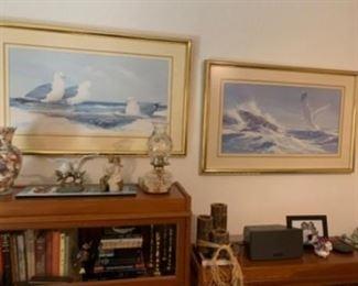"7.  Matching sea gull prints  36""W x 24""H    $80"