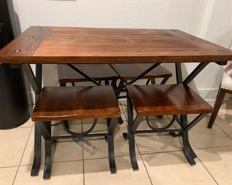"5.  Kitchen Table & 4 Benches  48""Wx30""D    $150"