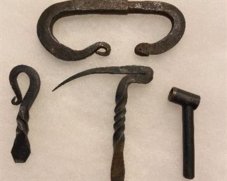 Hand forged utensils for black powder and fire striker $5 each