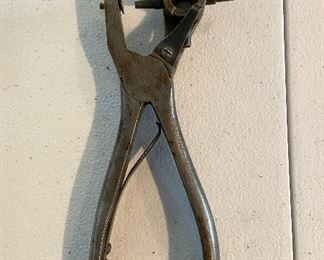 Vintage Leather Hole Punch - $8
