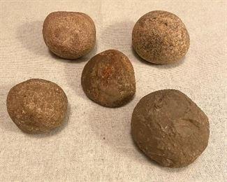 Indian Artifacts Stone Game Balls (5) - $40